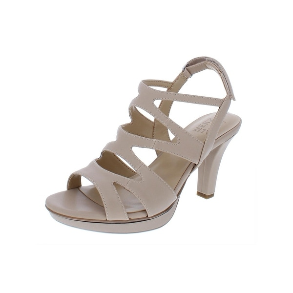 2ec0bc2e335 Naturalizer Womens Dianna Slingback Sandals Faux Leather Caged - 9.5 wide  (c