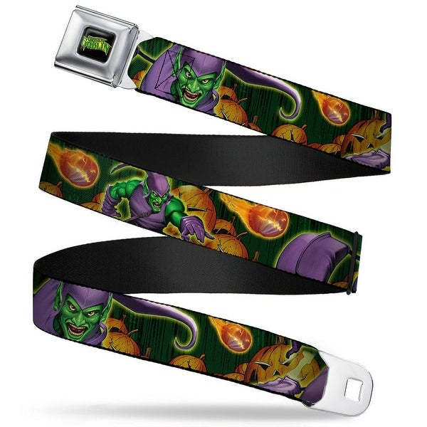 Marvel Universe Green Goblin Full Color Black Yellow Green Goblin Close Up Seatbelt Belt