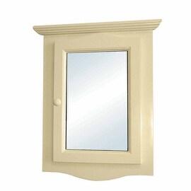 Solid Wood Corner Medicine Mirror Cabinet Bone