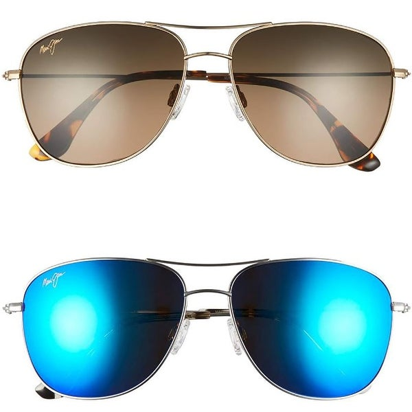 d3770b59bb Shop Maui Jim Style 247 Cliff House Polarized Aviators Sunglasses - One  size - Free Shipping Today - Overstock - 19964097