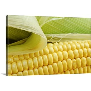 """Close up of corn"" Canvas Wall Art"