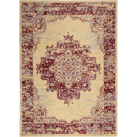 Nourison Grafix Distressed Vintage Medallion Area Rug