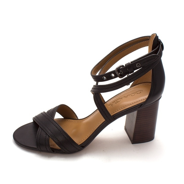 Coach Womens Phoebe Suede Open Toe Casual Strappy Sandals