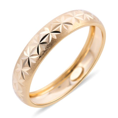 Shop LC Yellow Gold Band Ring Bridal Jewelry Gift