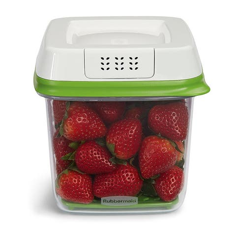 Rubbermaid FreshWorks Produce Saver Food Storage Container, 6.3 Cups - 6.3 Cups
