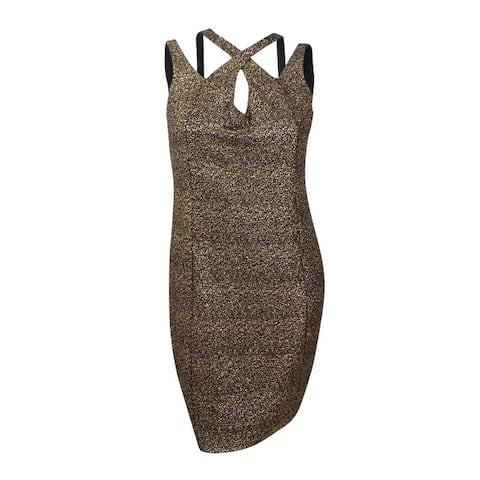 City Chic Women's Trendy Plus Size Glitter Bodycon Dress - Gold