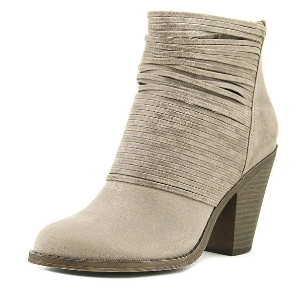 Fergalicious Wicket Women Round Toe Canvas Gray Bootie