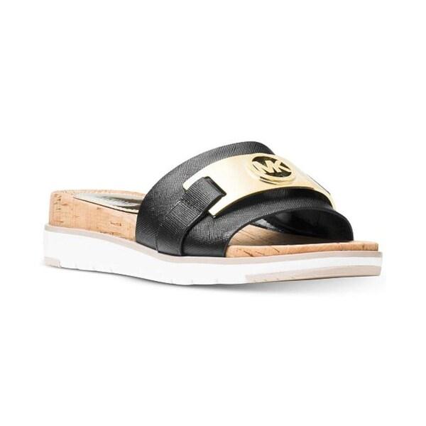 e9e0fe49fdf MICHAEL Michael Kors Womens Warren Sandal Leather Open Toe Casual Slide  Sandals
