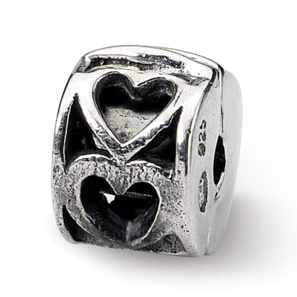 Sterling Silver Reflections Kids Heart Clip Bead (4mm Diameter Hole)