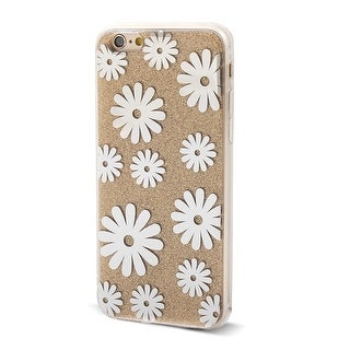 Flower Pattern Back Protective Phone Hard Case Cover Yellow for iPhone 6 4.7inch