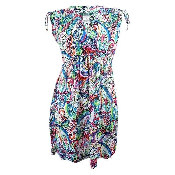 02264ee8f5 Shop Lauren by Ralph Lauren Women's Cabana Cotton Paisley Farrah Cover-Up -  Multi - Free Shipping Today - Overstock - 27665142