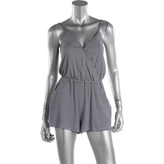 Minkpink Womens Mix It Up Partially Lined Spaghetti Straps Romper - L