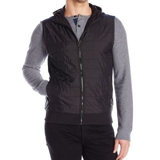 Reaction Kenneth Cole NEW Black Mens Size Small S Hooded Vest Jacket
