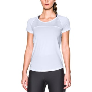 Under Armour Womens Fly By Pullover Top Open Back Fitted