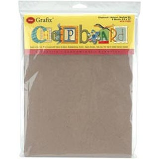 "Natural - Medium Weight Chipboard Sheets 8.5""X11"" 6/Pkg"