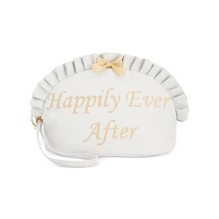 Blue by Betsey Johnson Womens Happily Ever After Cosmetic Case Glitter Ruffled