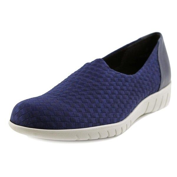 Munro American Cruise Women Round Toe Canvas Blue Loafer