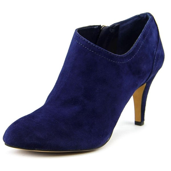 Vince Camuto Vo-Vala Women Pointed Toe Suede Blue Bootie