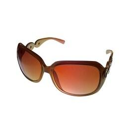 Esprit Womens Sunglass 19331 535 Brown Rectangle Fashion Plastic