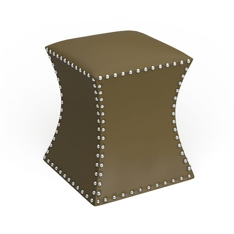 The Curated Nomad Hastings Faux Leather Ottoman