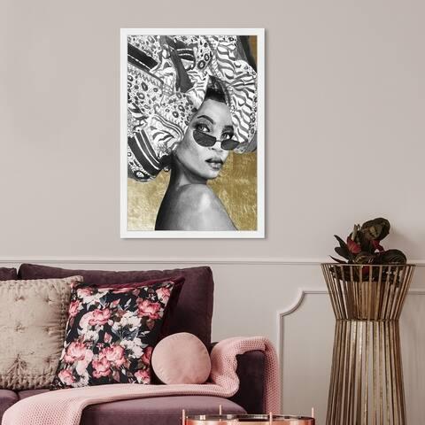 Oliver Gal 'Goddess of Tigris' Fashion and Glam Wall Art Framed Print Portraits - Black, Gold