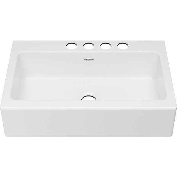 "American Standard 77SB.36220A Delancey 36"" Farmhouse Single Basin Cast Iron Kitchen Sink - Brilliant White"
