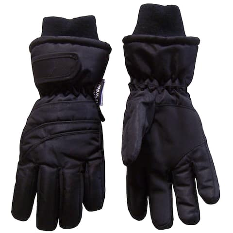 NICE CAPS Adults Unisex Thinsulate and Waterproof Bulky Winter Ski Glove with Ridges