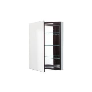 "Robern PLM2430B 23 1/4"" Reversible Hinged Single Door Mirrored Medicine Cabinet"