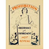 USA - Prohibition - (c. 1926) - Vintage Ad (100% Cotton Towel Absorbent)