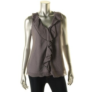 BCX Womens Sleeveless Lace Back Pullover Top