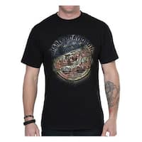Harley-Davidson Men's Vintage Flag Crew-Neck Short Sleeve T-Shirt - Black