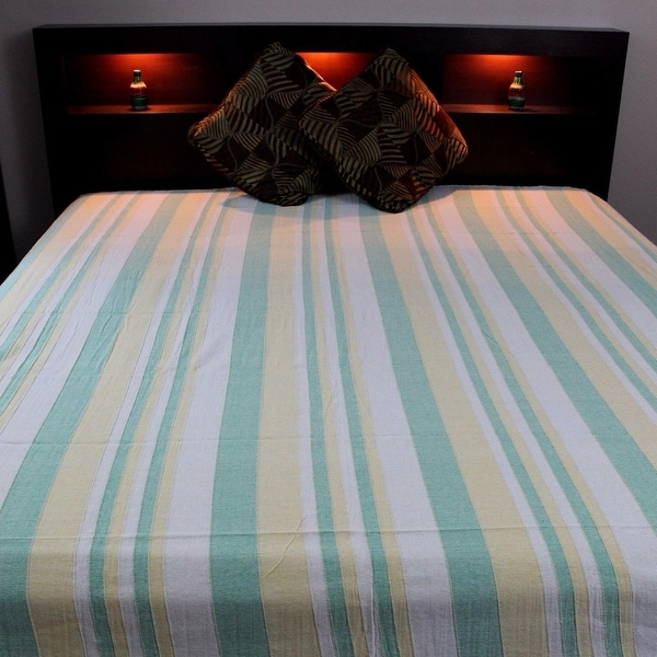 "Heavy Cotton Ribbed Bedspread  98/"" x 88/"" Full Blue"