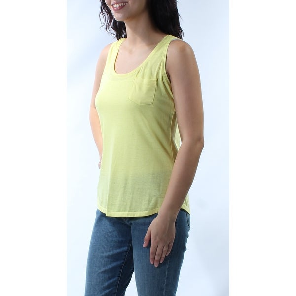 ec24f5c81ee05 Shop STYLE   CO Womens Yellow Sleeveless Scoop Neck Hi-Lo Top Size  M - On  Sale - Free Shipping On Orders Over  45 - Overstock - 21274216
