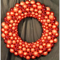 Christmas at Winterland WL-BWR-45-RE 4 Foot Red Ornament Wreath Indoor / Outdoor