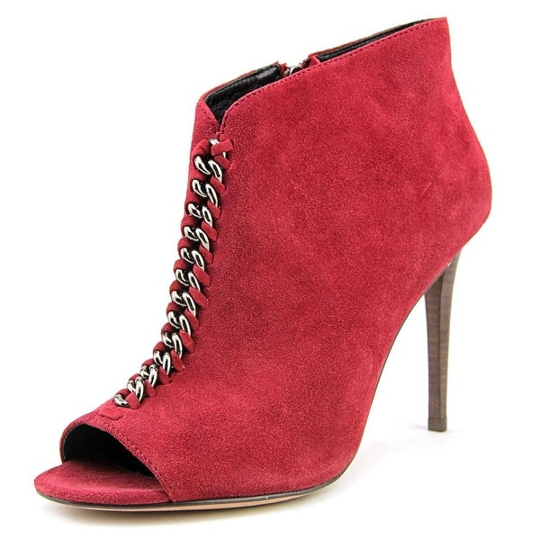 0c2fcaaf55d Shop Coach Olie Peep-Toe Suede Bootie - Free Shipping Today ...