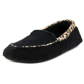 Acorn Spa Loafer Women Moc Toe Canvas Black Slipper