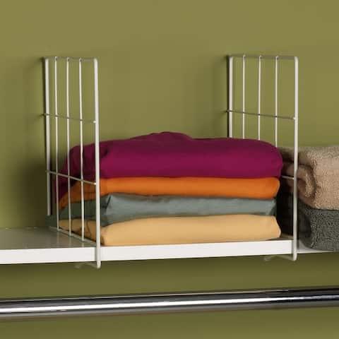Household Essentals Shelf Dividers, Set of 2, White