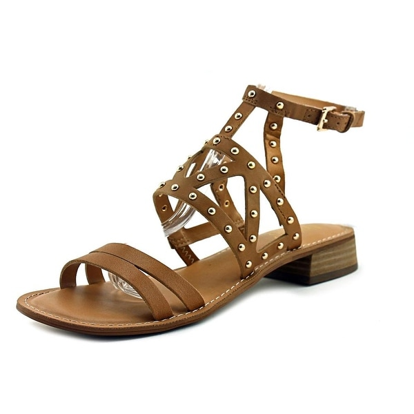 Franco Sarto Apollo Women Open Toe Leather Nude Sandals