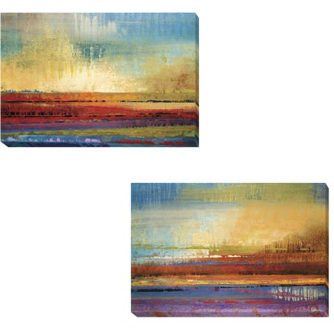 Horizons I & II by Selina Rodriguez 2-pc Gallery Wrapped Canvas Giclee Set (16 in x 24 in Each Canvas in Set)