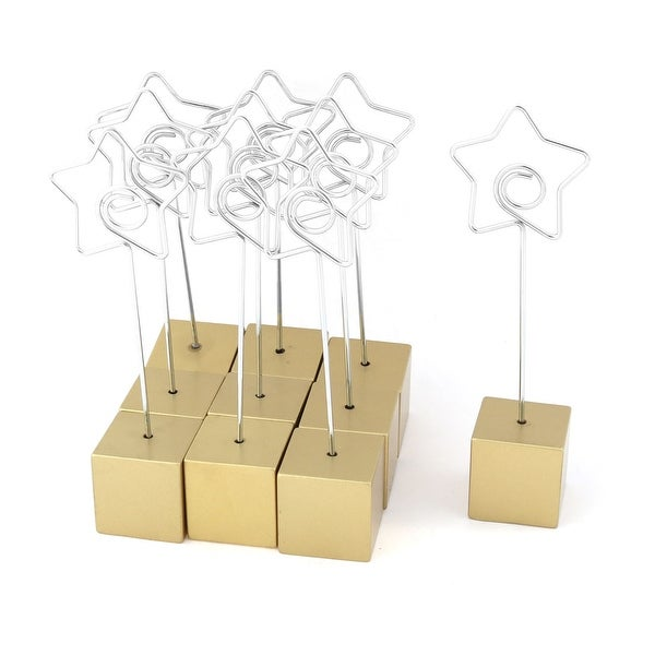 Shop Home Office Cube Shaped Base Star Design Clamp Paper