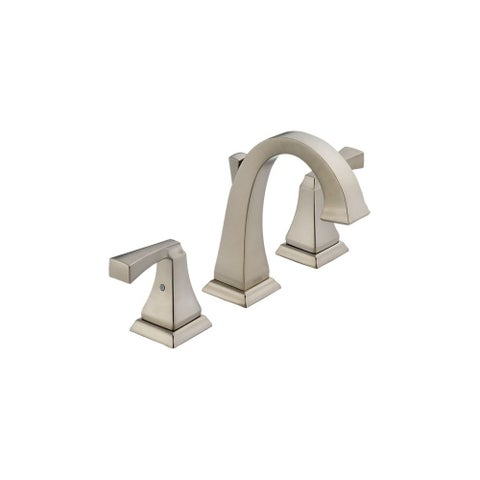 Delta 3551LF Dryden Widespread Bathroom Faucet with Diamond Seal Technology - Includes Pop-Up Drain Assembly