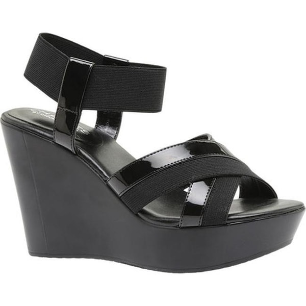 c6ad4bf2b80 ... Women s Shoes     Women s Sandals. Charles by Charles David  Women  x27 s Fort Ankle Strap Wedge Sandal Black Elastic