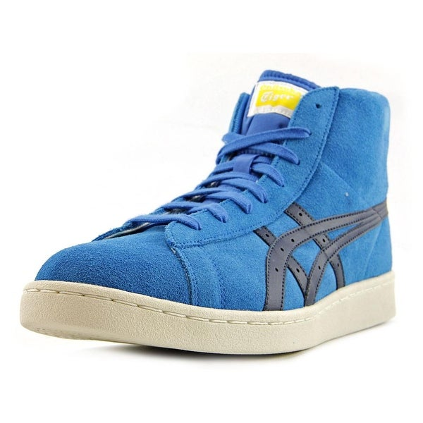 Onitsuka Tiger by Asics Fabre DC-L Men Round Toe Leather Blue Sneakers