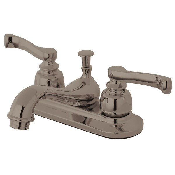 Kingston Brass KB860 1.2 GPM Centerset Bathroom Faucet with Pop-Up Drain Assembly and Metal Handles