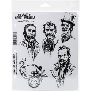 """Brett Weldele Cling Stamps 7""""X8.5""""-Steampunk Selfie - Gents"""