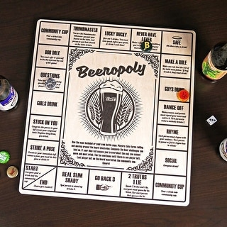 Beeropoly Beer Game - by HWB | Perfect for Parties or Tailgating - Beer Caps and Dice Included