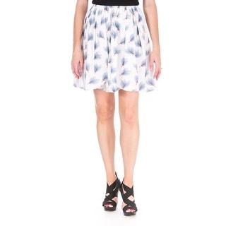 Marianna Cimini Womens Corolla Printed Pleated A-Line Skirt - 40