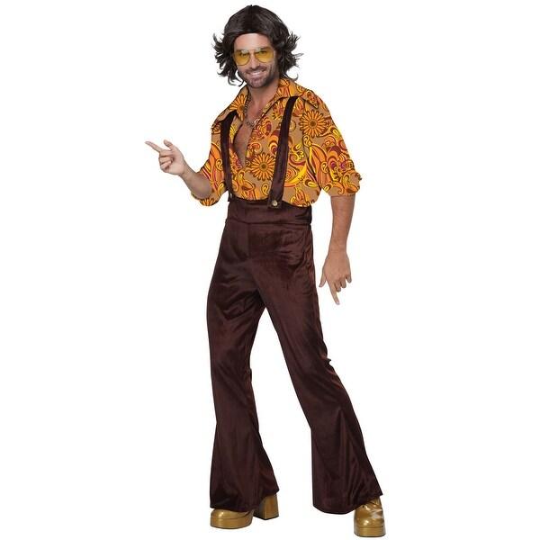 California Costumes Jive Talkin' Disco Dude Adult Costume - Brown/Orange