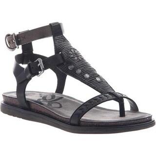 OTBT Women's Stargaze Ankle Strap Sandal Black Leather