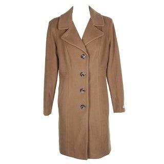 Anne Klein Plus Size Camel Wool Cashmere Blend Walker Coat 16W